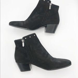 Sam Edelman Shoes - Sam Edelman Black Suede Leather Rudie Bootie 6.5 M